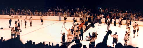 gopher hockey banner night 1992